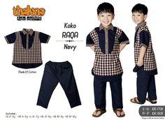 KOLEKSI GAMIS ANAK: Thaluna Koko Raqa Navy  Bahan : Katun Type :  Koko + Celana  Ready size XL (Rp.170.000) & 10 (Rp.190.000)