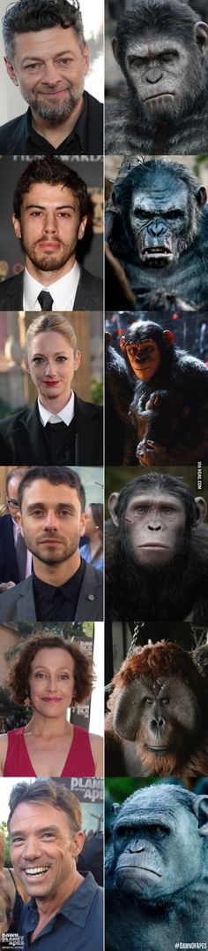 DAWN OF THE PLANETS OF THE APES CAST WHO PLAYS THE AWESOME APES