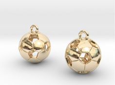 Check out Soccer Balls Earrings by Marcos Ramos Design on Shapeways and discover more 3D printed products in Earrings.