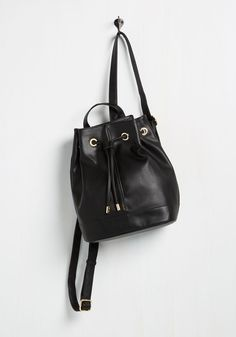 Better to Travel Joyfully Backpack. Brighten up the road ahead by adventuring with this black backpack. #black #modcloth