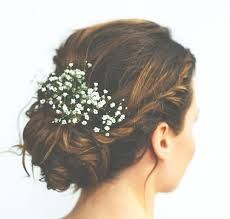 Image result for wedding hair with gypsophila
