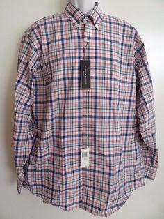 Tommy Hilfiger Mens Multi-Color 100% Cotton L/S Reg Fit Dress Shirt Sale #TommyHilfiger