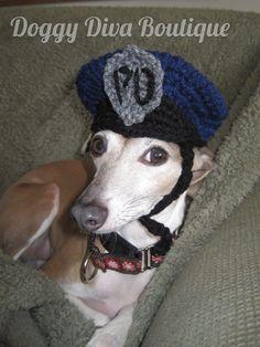 5ece71ec072 Dog Hat - Police Officer Hat for Dog or cat under 35 pounds   Photo Prop    Costume   Made to Order