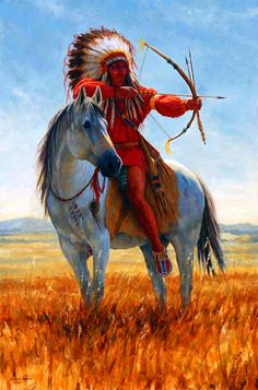 Native American Indian mounted archer