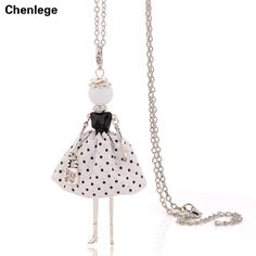 0c820c589 luxury elegant ladies necklaces free shipping 2017 new women long chain  stylish french paris doll necklaces