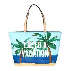 869bec733aa kate spade new york Breath Of Fresh Air I Need A Vacation Francis Tote Bag