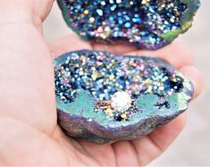 wedding rings box Natural Geode Agate Box Wedding Ring Box Perfect for Ring