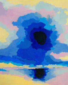 Reverse Sunset 16x20 Original Acrylic Painting Abstract. $150.00, via Etsy.