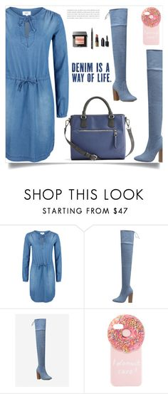 """""""Denim is a way of life!"""" by samra-bv ❤ liked on Polyvore featuring Iphoria and Bobbi Brown Cosmetics"""