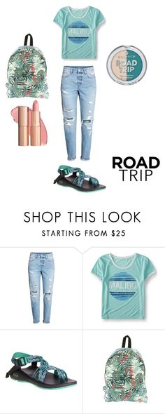 """""""Road trip"""" by ilovezooark24 ❤ liked on Polyvore featuring Aéropostale, Chaco and Roxy"""