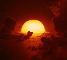 Haunting imagery from 1945 to when the US military was detonating hundreds of nuclear bombs in the atmosphere; Sunset Gif, Nuclear War, Nuclear Apocalypse, Nuclear Bomb, Film Gif, Weapon Of Mass Destruction, Atomic Age, Sky And Clouds, Beautiful Sunset