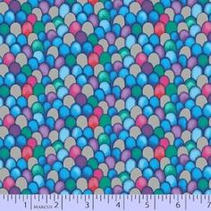 Marcus Fabrics - Rainbow Fish - 9752-0750 - Old Country Store Fabrics