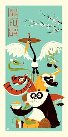 Dave Perillo's Kung Fu Panda Poster (Onsale Info) Dreamworks Animation, Animation Film, Disney And Dreamworks, Dreamworks Skg, Panda Illustration, Disney Kunst, Disney Art, Guerrero Dragon, Panda Movies