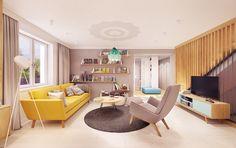 Zarysy Jan Sekuła - Pracownia Architektury, Wnętrz i Designu - Back To The Future Back To The Future, Corner Desk, Loft, Bed, Interior, House, Furniture, Behance, Design