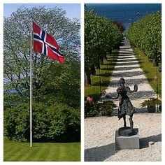 17 Mai, Norway's National Day. Norwegian nature, Beautiful summer, Hotell Refsnes Gods, Moss, Jeløy, VisitOslofjord, VisitØstfold, Dehistoriske Superior Room, Double Room, Sidewalk, Romantic, Garden, Holiday, Beautiful, Nature, Vacation