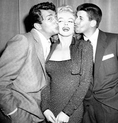 Dean Martin, Jerry Lewis, and Marilyn Monroe, c. 1953.