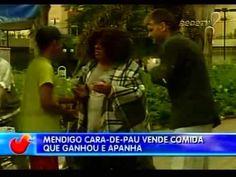 #comida #Pegadinhas Pegadinhas da TV   Mendigo pede comida e a vende