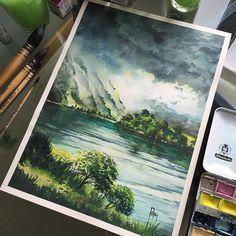 Watercolorist: @adempotas #waterblog #акварель #aquarelle #painting #drawing #art #artist #artwork #painting #illustration #watercolor #aquarela