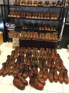 Mens Fashion Rugged – The World of Mens Fashion Red Wing Heritage Boots, Red Wing Boots, Mens Boots Fashion, Kinds Of Shoes, Cool Boots, Wedge Boots, Vintage Leather, Leather Shoes, Workwear