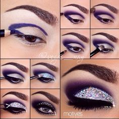 Big, bold, in-your-face glam eye makeup look that would be perfect for New Years Eve, holiday parties, or simply whenever because - let's face it - you can rock any look whenever you want <3