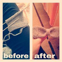 Bow pin #pin#bow#handmade#wool