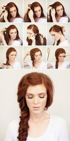 Une coiffure pour des cheveux longs