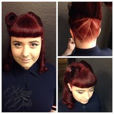 #throwbackthursday to the 1920's with hidden retro spin!!! Emma's amazing colour, cut and style smashed into 2015 along with the new razor dolls salon!!!