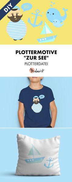 Süße Seemannsmotive zum Selberplotten für Groß und Klein - Plotterdatei via Makerist.de