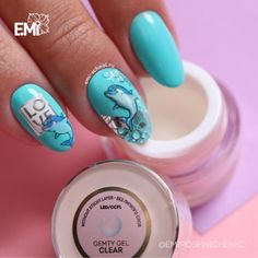nail dolphin designю Рow to design nails for summer with any images, animals, dolphin, beach. Mode nail art ideas are on our website. EMI school of nail design in Dubai.