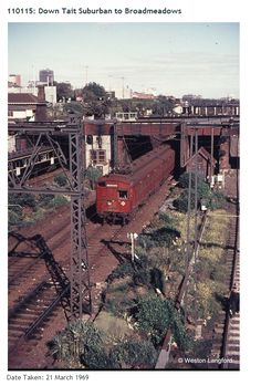 It's a Tait and a Harris train at North Melbourne - era is unknown Melbourne Australia, South Australia, Western Australia, Brisbane, Melbourne Suburbs, Historic Houses, Tasmania, Train Station, Back In The Day