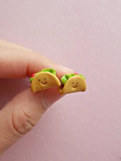 Taco Earrings Taco Jewelry Stud Earrings Taco Accessories Mexican Food Earring Miniature Food Junk F Polymer Clay Kunst, Cute Polymer Clay, Cute Clay, Polymer Clay Miniatures, Fimo Clay, Polymer Clay Projects, Polymer Clay Charms, Polymer Clay Earrings, Clay Crafts