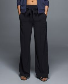 We designed these high-waisted, wide leg pants to keep us calm ...