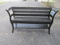 double chair bench repurposed from 2 chairs and a bench....love this!  cm