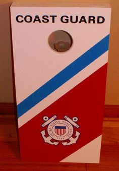 Handmade US Coast Guard Mini Cornhole Boards by by mrwoodwizard, $85.00-  great gift idea for a loved one in the USCG