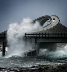 "Bridge Road ""Storseisundet Atlantic"" (Atlanterhavsveien), Norway"