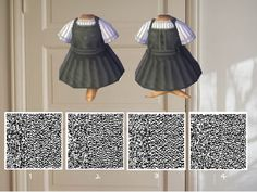 #Kleiderschrank gross mozuku on Twitter Animal Crossing Qr Codes Clothes, Animal Crossing Game, Hair Patterns, Clothing Patterns, Motif Acnl, Ac New Leaf, Motifs Animal, Dress Codes, Most Beautiful Pictures