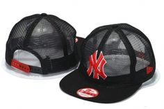 Casquette NY New York Yankees MLB Maille Snapback Noir Rouge Logo : Casquette Pas Cher