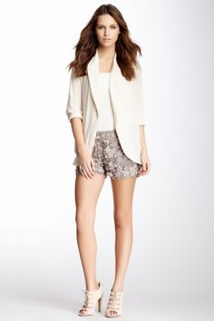 love this look for spring. need these floral shorts.