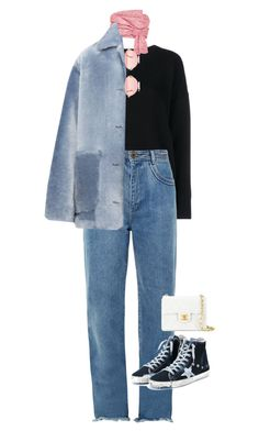 """Untitled #50"" by boy0blue ❤ liked on Polyvore featuring Frame, Adeam, Chloé, Burberry, Golden Goose and Chanel"