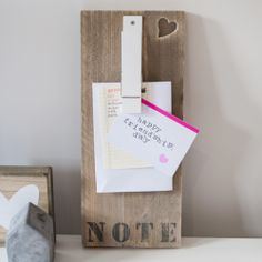 Noteboard met knijper | www.woodbrand.nl