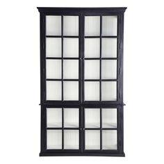 XXX Bücherregal aus Mangoholz, B 135cm, schwarz