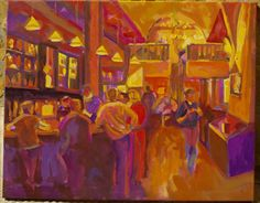 """Irish Pub"" oleo/lienzo 73 x 92 cm."