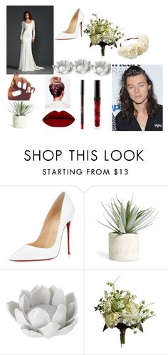 """""""Wedding day"""" by kenziemckeee on Polyvore featuring Christian Louboutin, Allstate Floral, Pavilion Broadway, Rock 'N Rose and Abigail Ahern"""