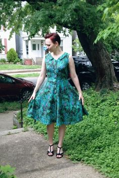 Pattern review: Colette Patterns Hawthorn dress | Green apples