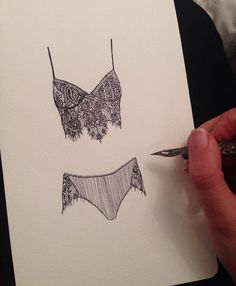 Bras and Panties We love these customer sketches! Our Giselle Bra and Panty Set on paper via Ellie Bullock on Instagram #myFLL - http://amzn.to/2gaTvHB