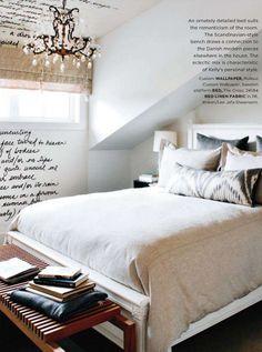 word wall in bedroom