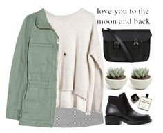 love you to the moon and back by evangeline-lily on Polyvore featuring polyvore fashion style Madewell Monki Zara The Cambridge Satchel Company ASOS Cheap Monday zara madewell weekday fall2015