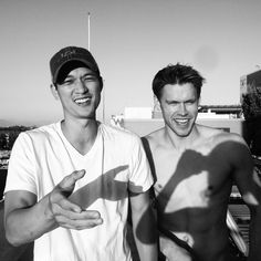 Harry Shum Jr and Chord Overstreet