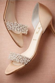 1255ab0ce88 Gorgeous Wedding Shoes Summer Champagne High Heels Medium Length Decorated  With .