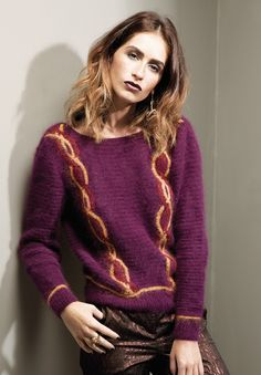 NEW ROWAN STUDIO 33, launch mid-November 2013: Hendrix by Gemma Atkinson made with 8-12 balls of Angora Haze and 2 colors each of Kidsilk Haze and Anchor Artiste Metallic.